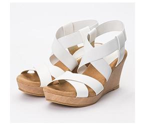 交叉設計涼鞋