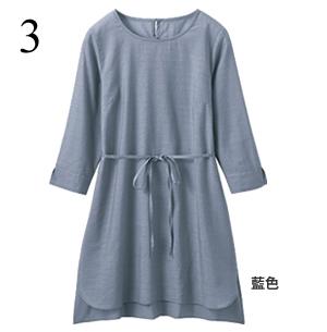 混TENCEL束腰衫(附同材質蝴蝶結腰帶)