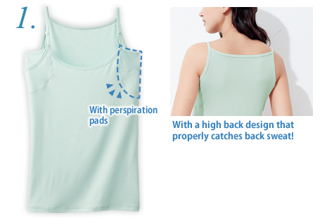 Camisole w/Perspiration Pads