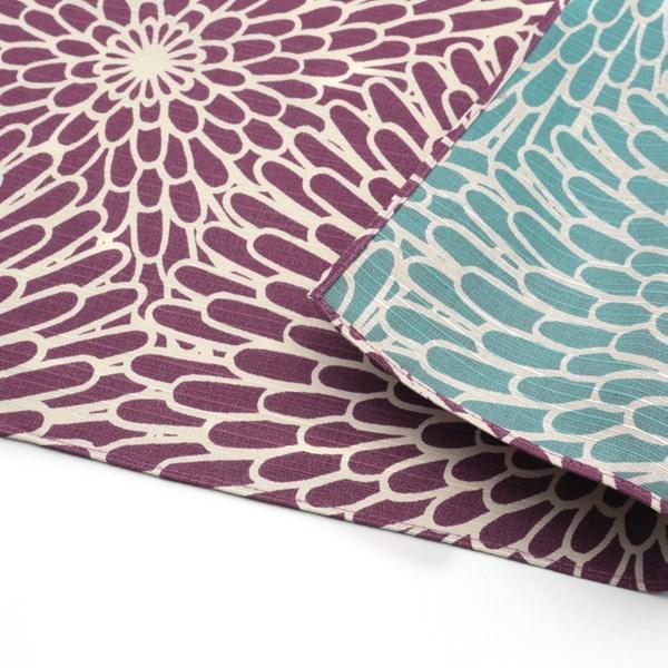 [方巾 三巾] 伊砂文  兩面 菊 淡紫色/ 青瓷色