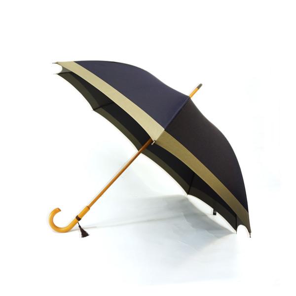 甲州織 木握柄傘