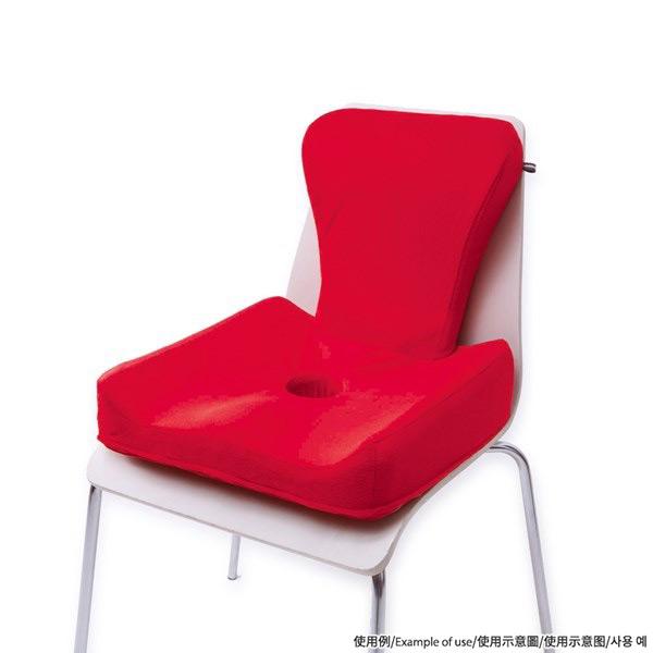 3D姿勢椅墊 紅