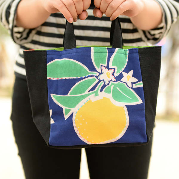 托特包 (小) 夏柑橘, 深藍色