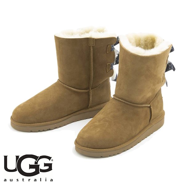 UGG BAILEY BOW BANDANA CHESTNUT (咖啡色)/ 雪靴/ 女裝, 童裝
