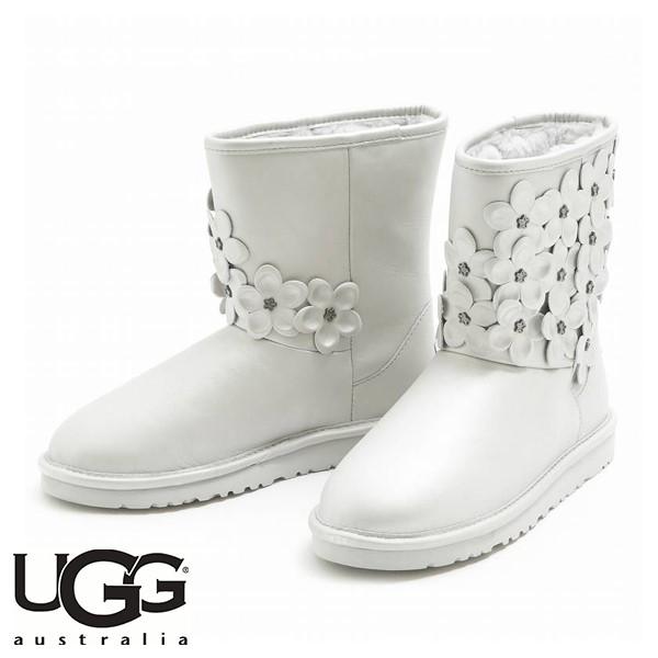 UGG CLASSIC SHORT FLORA STERLING (銀色)/ 雪靴/ 女裝, 童裝