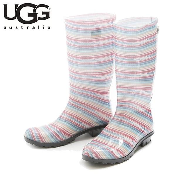 UGG SHAYE SERAPE SEAMIST (粉色 x 藍色 條紋)/ 雨靴/ 女裝