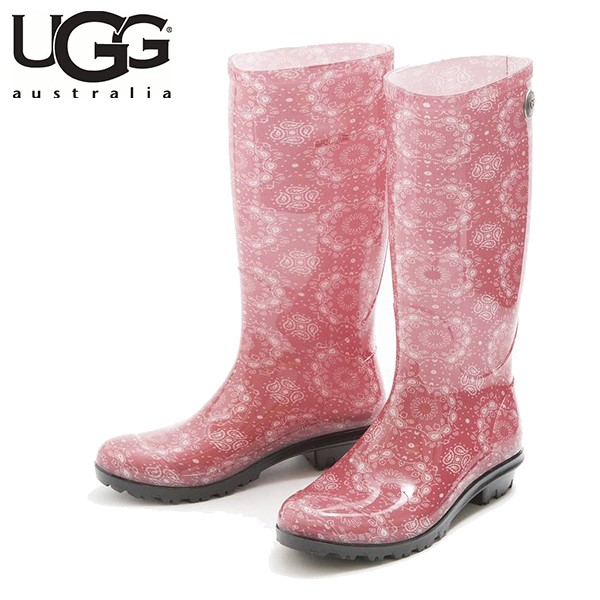 UGG SHAYE BANDANA RACING RED (粉色)/ 雨靴/ 女裝