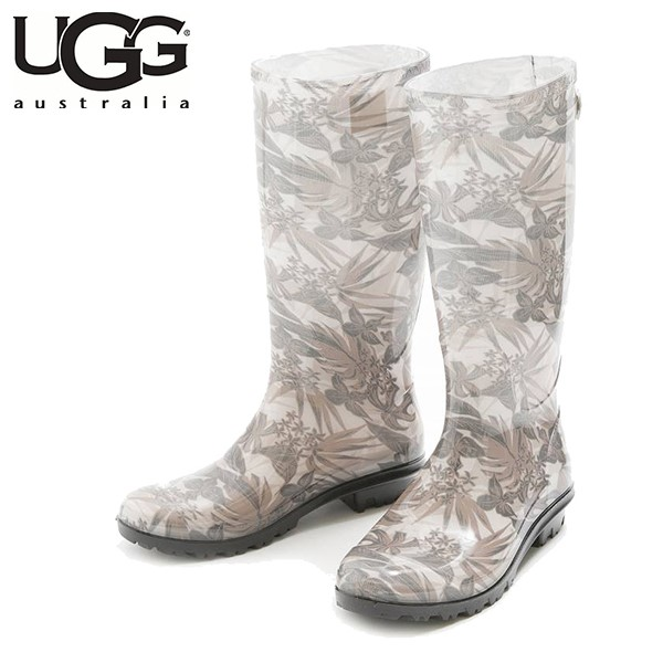UGG SHAYE ISLAND FLORAL TROPICAL BLACK (黑色 x 米色 花樣)/ 雨靴/ 女裝