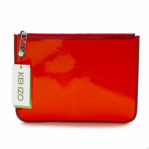 KENZO 1sa606f12-tr 透明手拿包 (紅色)/ 女裝