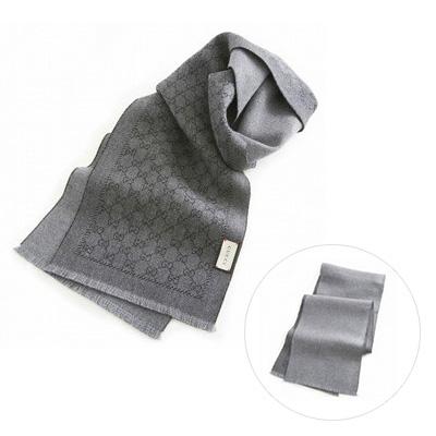 GUCCI 4117264g200 圍巾 (灰色 x 灰色)/ 男女兼用