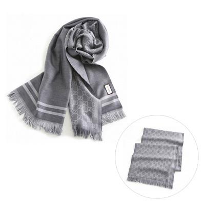 GUCCI 10099548200 圍巾 (1263 淺灰色)/ 男女兼用