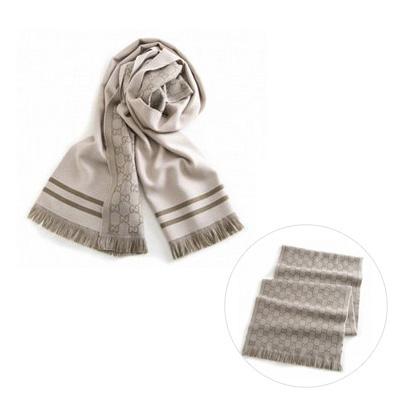 GUCCI 10099548200 圍巾 (9764 淺灰色)/ 男女兼用