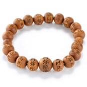 Kyoto Buddhist Rosary/Bracelet Bracelet, Sandalwood Namu Amida Butsu, Large