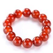 Kyoto Buddhist Rosary/Bracelet Bracelet, Red Agate 14mm x 16 Beads