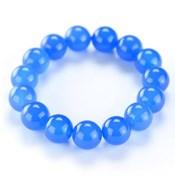 Kyoto Buddhist Rosary/Bracelet Bracelet, Blue Agate 14mm