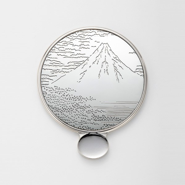 金屬花紋 手拿鏡s 赤富士 銀