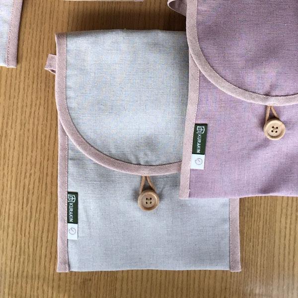 [天然染料] 小包包 圓弧形 梅子 (S)