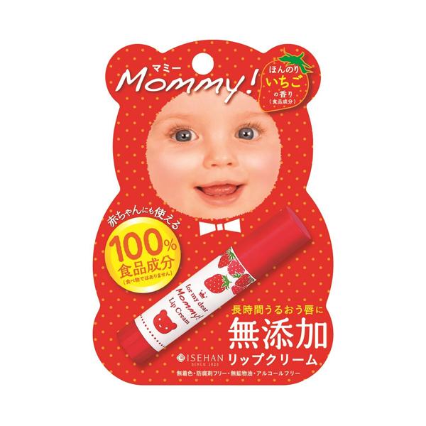 伊勢半 KISS ME Mommy 天然護唇膏 草莓香