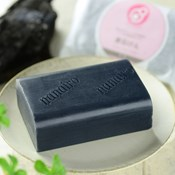 [For the Bath] Yasashiku Naritai Charcoal Soap, 100g