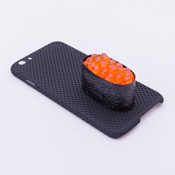 iPhone 6/6S Case Food Sample, Sushi, Salmon Roe (Small) Black Dot