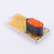 iPhone 6/6S Case Food Sample, Sushi, Salmon Roe (Small) Sparkling Yellow