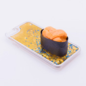 iPhone 6/6S Case Food Sample, Sushi, Sea Urchin (Small) Sparkling Yellow