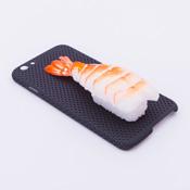iPhone 6/6S Case Food Sample, Sushi, Shrimp (Small) Black Dot