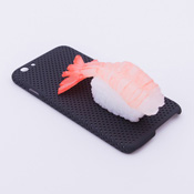 iPhone 6/6S Case Food Sample, Sushi, Sweet Shrimp (Small) Black Dot
