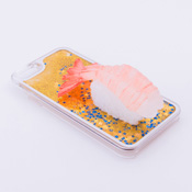iPhone 6/6S Case Food Sample, Sushi, Sweet Shrimp (Small) Sparkling Yellow