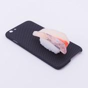 iPhone 6/6S Case Food Sample, Sushi, Japanese Amberjack (Small) Black Dot
