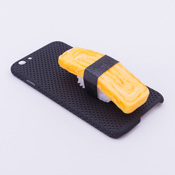 iPhone 6/6S Case Food Sample, Sushi, Egg (Small) Black Dot