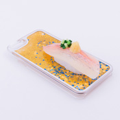 iPhone 6/6S Case Food Sample, Sushi, Horse Mackerel (Small) Sparkling Yellow