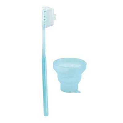 摺臟〞M子S與牙刷組 亮藍色 /洗面用品