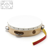 Yamayo Tambourine, Clear/Wood Grain (White Frame) 18cm