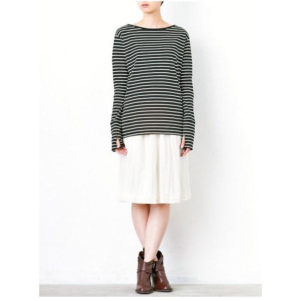 混丝绸素材柔顺皱褶裙 (白色)