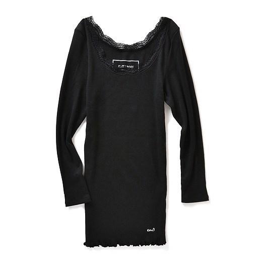 保暖蕾丝内衬 [长袖] (黑色)