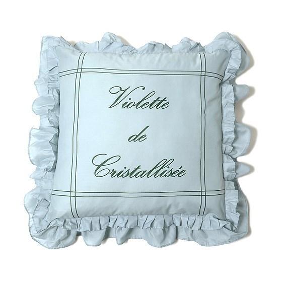 褶缝样式房间增添华丽感 复古风靠枕 (浅蓝色 x 绿色)