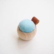 Cohana Hinoki Cypress Pin Cushion,  Banshu-Ori, Pale Blue