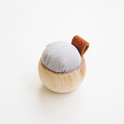 Cohana Hinoki Cypress Pin Cushion,  Banshu-Ori, Blue Gray
