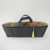 Cohana Canvas Tool Bag, Charcoal/Jonquil
