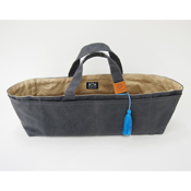 Cohana Canvas Tool Bag, Charcoal/Dayflower