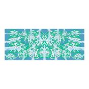 Tenugui, Forest Animals, Blue