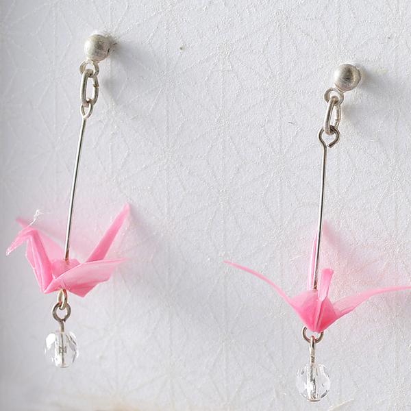 Crane 穿式耳環 #01 粉色