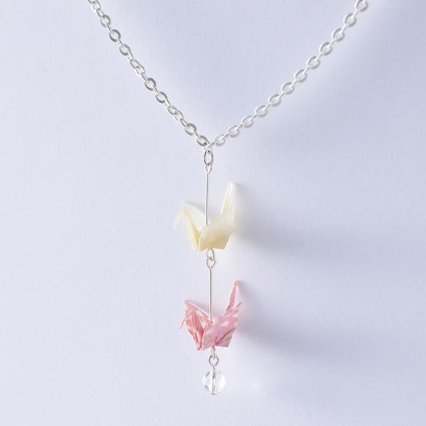 Crane 項鍊 #06 三角形 粉色