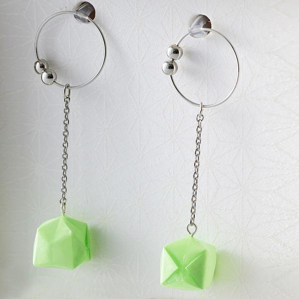 Balloon 夾式耳環 #02 綠色