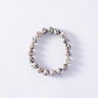 Japanese Natural Stone Mannari Ishi Bracelet, Malet, 10mm Beads