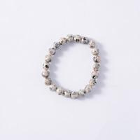 Japanese Natural Stone Mannari Ishi Bracelet, Malet, 8mm Beads