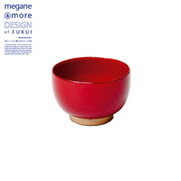 Soup Bowl, Red x Beige