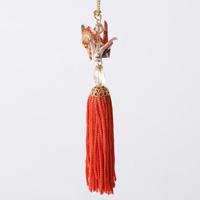 Paper Crane Tassel Washi Ornament, Orange