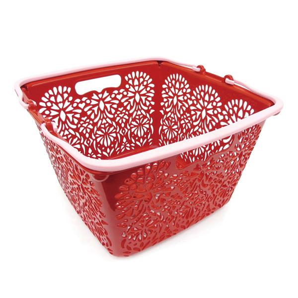 MAHALO BASKET(Li'i) 正方形籃子 紅色